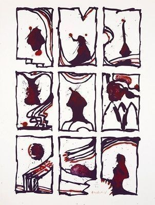 Lithographie Alechinsky - Composition