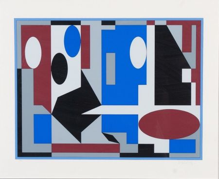 Lithographie Vasarely - Composition