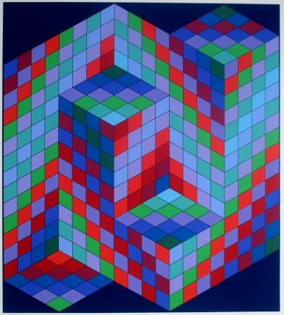 Siebdruck Vasarely - Composition
