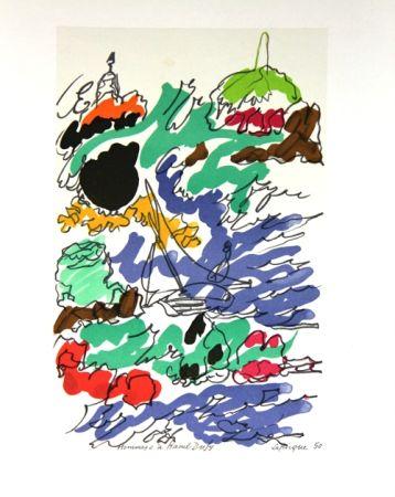 Lithographie Lapicque - Composition