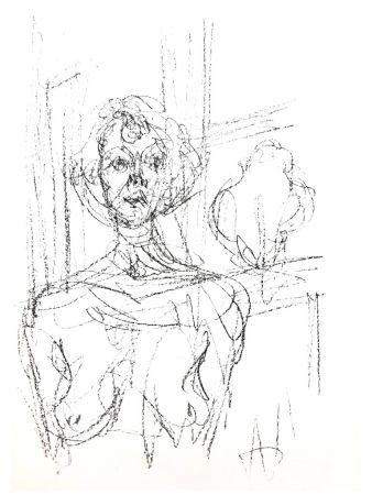 Lithographie Giacometti - Composition