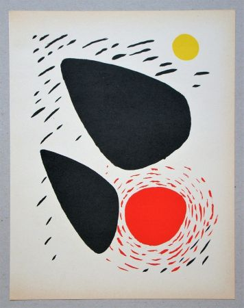 Lithographie Calder - Composition