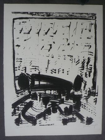 Lithographie Sonderborg - Composition,1963