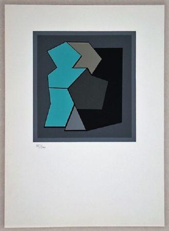 Siebdruck Vasarely - Composition - Geh Durch Den Spiegel