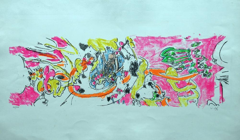 Lithographie Matta - Composition 1