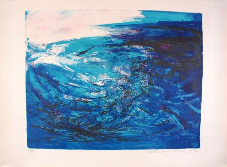 Lithographie Zao - Composition 164