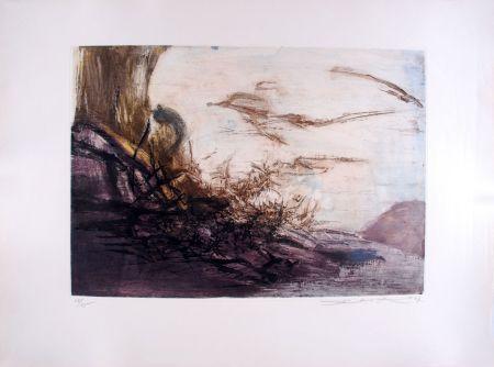 Radierung Und Aquatinta Zao - Composition 172
