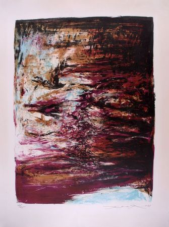 Lithographie Zao - Composition 182