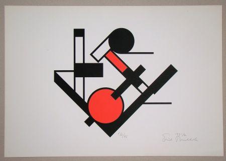 Siebdruck Buchholz - Composition, 1921