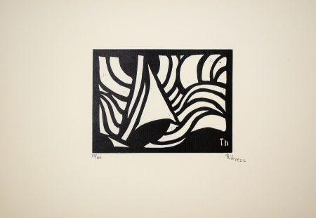 Holzschnitt Maatsch - Composition, 1922
