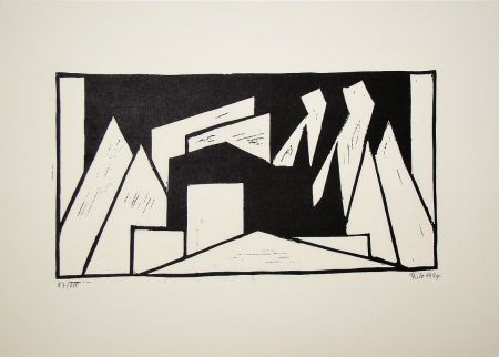 Holzschnitt Maatsch - Composition, 1924