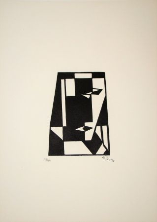 Holzschnitt Maatsch - Composition, 1926