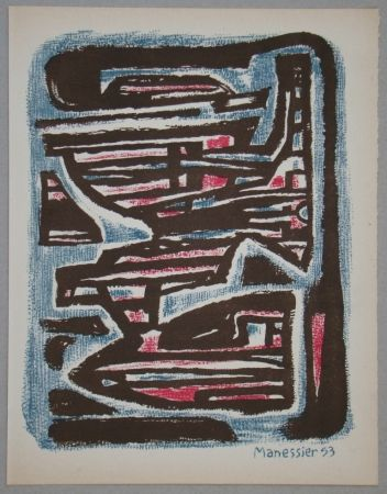 Lithographie Manessier - Composition, 1953