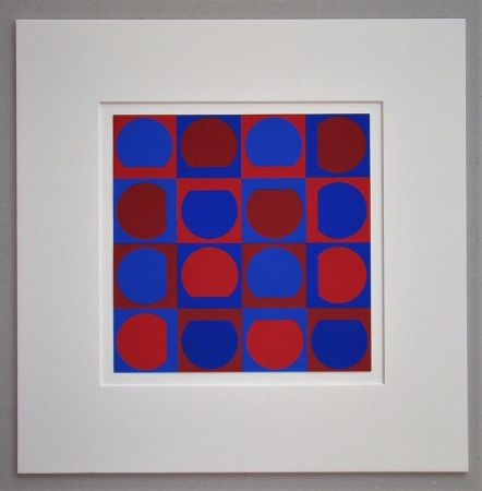 Siebdruck Vasarely - Composition 1964