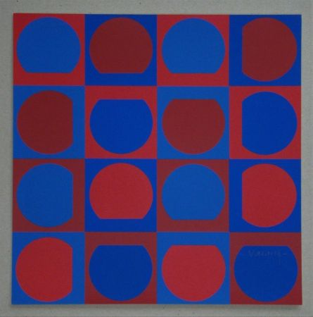 Siebdruck Vasarely - Composition, 1964