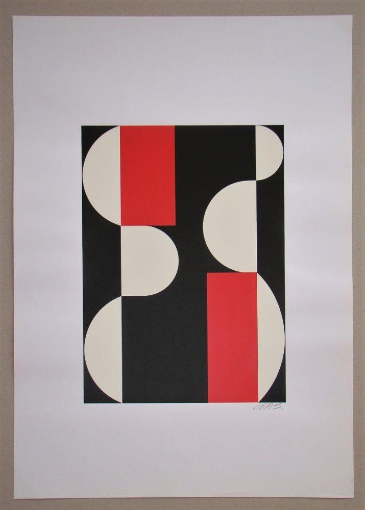 Siebdruck Béöthy Steiner - Composition, 1970