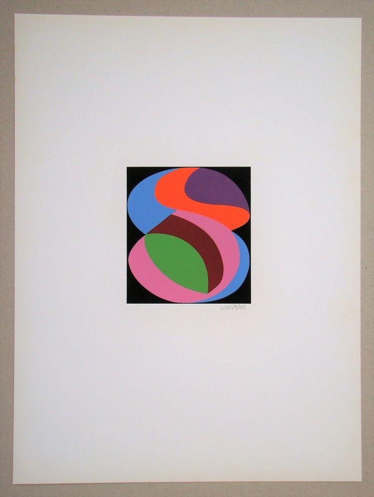 Siebdruck Béöthy Steiner - Composition, 1972
