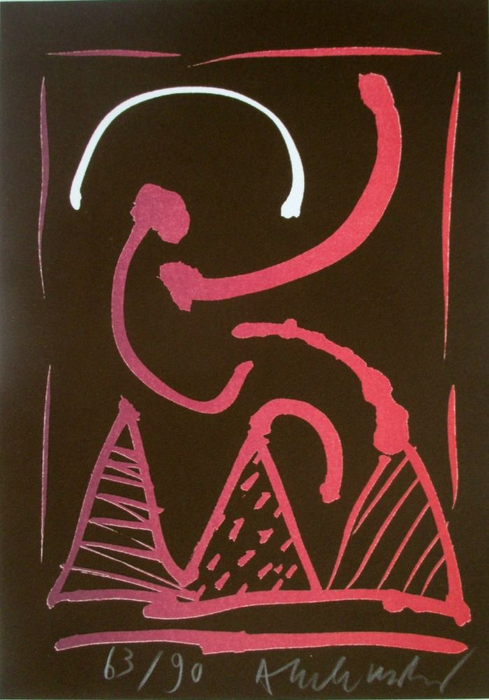 Lithographie Alechinsky - Composition 8/8