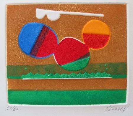 Radierung Und Aquatinta Dorny - Composition abstraite