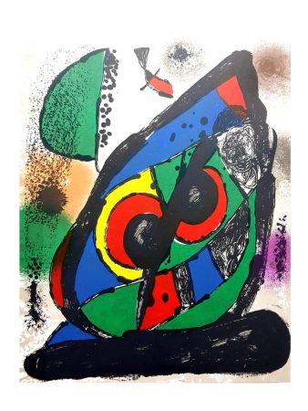 Lithographie Miró - Composition Abstraite