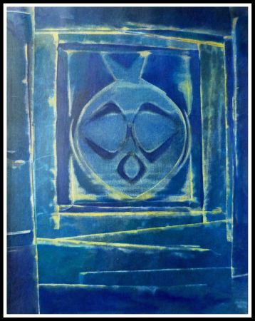 Pochoir Ernst - COMPOSITION AU VASE BLEU