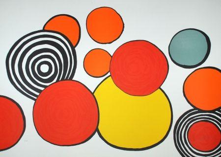 Lithographie Calder - Composition Aux Cercles