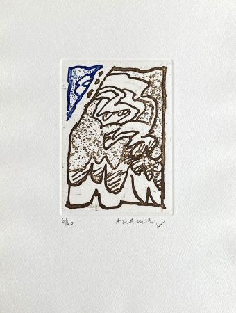 Stich Alechinsky - Composition bleu