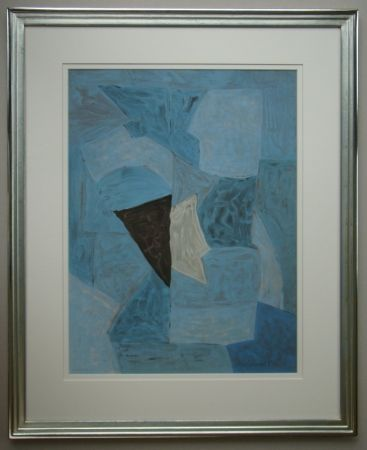 Lithographie Poliakoff - Composition bleue