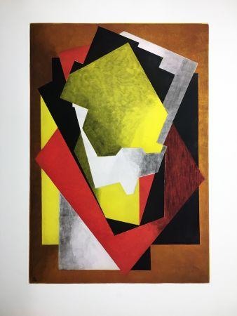 Radierung Und Aquatinta Villon - Composition Cubiste (1927)