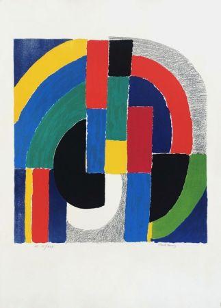Lithographie Delaunay - Composition géométrique