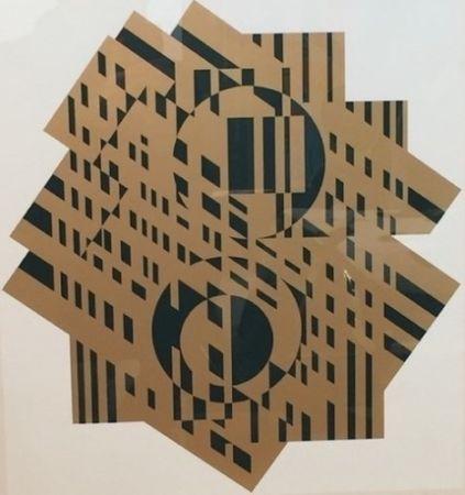 Lithographie Vasarely - Composition géométrique