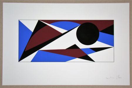 Siebdruck Claisse - Composition géométrique - sans titre