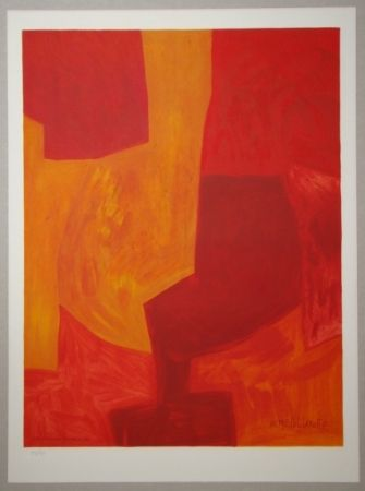 Lithographie Poliakoff - Composition gouache 1969