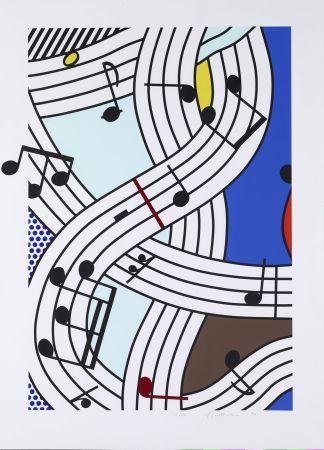 Siebdruck Lichtenstein - Composition I
