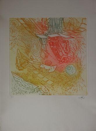 Radierung Und Aquatinta Matta - Composition / Iolas
