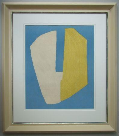 Lithographie Poliakoff - Composition jaune et bleue
