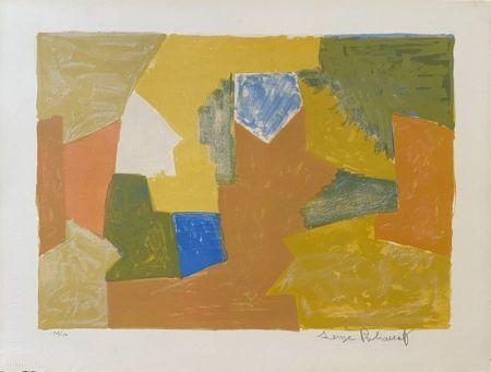 Lithographie Poliakoff - Composition jaune, Orange et Verte L14