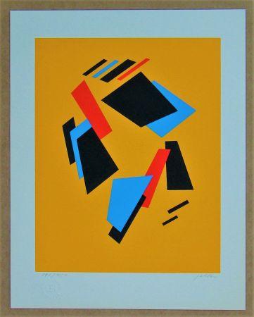 Siebdruck Jeltov - Composition  Moscou-Paris