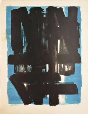 Lithographie Soulages - Composition N°5