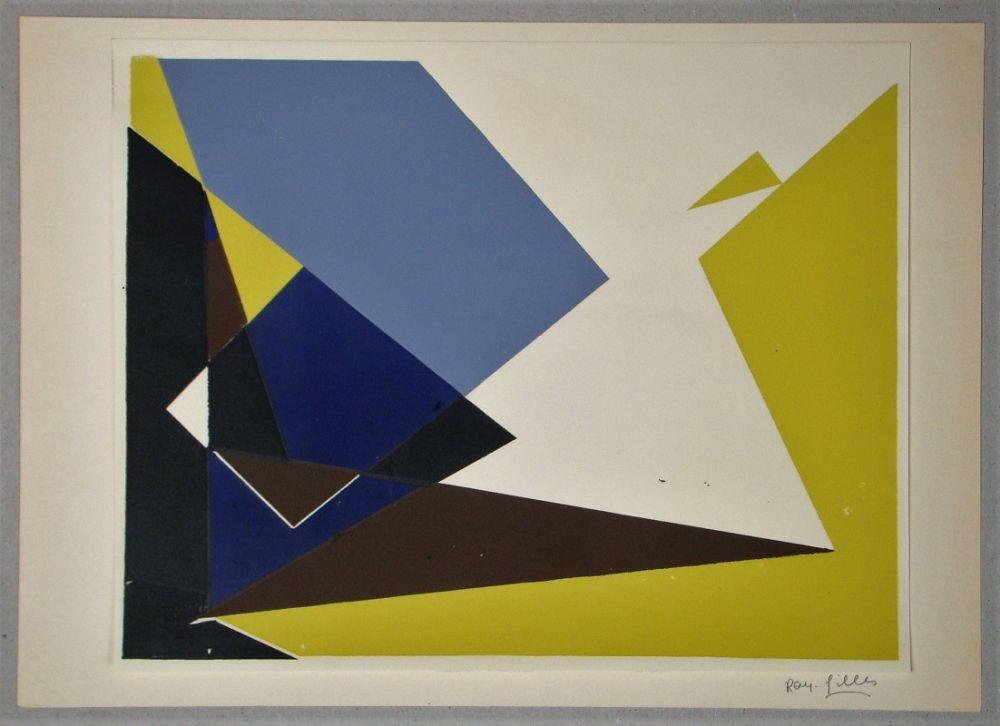 Siebdruck Gilles  - Composition pour Art Abstrait