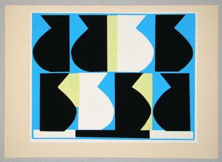 Siebdruck Delahaut - Composition pour Art Abstrait
