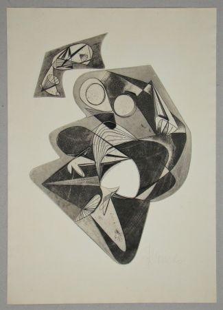 Radierung Mels - Composition pour Art Abstrait