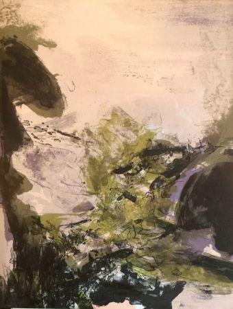 Lithographie Zao - Composition pour xx siècle