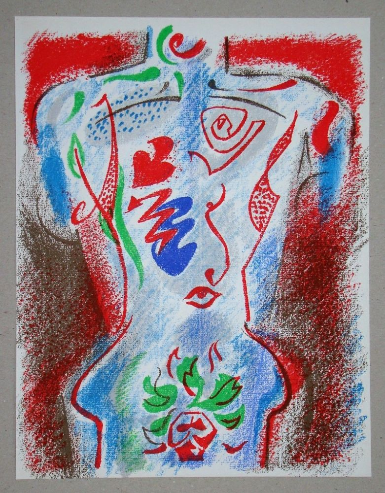Lithographie Masson - Composition pour XXe Siècle