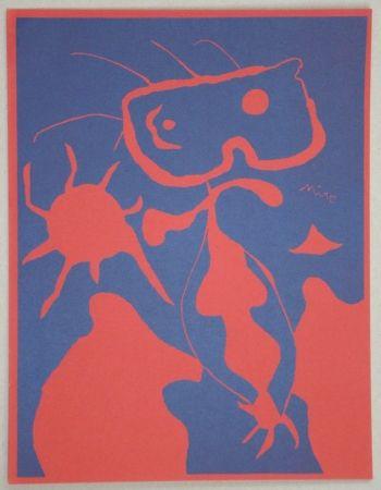 Linolschnitt Miró - Composition pour XXe Siècle