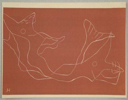 Linolschnitt Laurens - Composition pour XXe Siècle