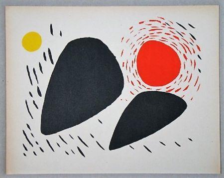 Lithographie Calder - Composition Pour Xxe Siècle