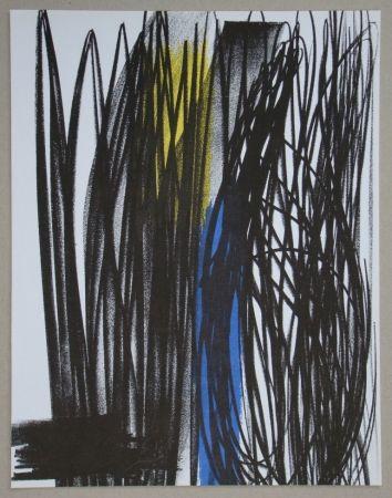 Lithographie Hartung - Composition Pour Xxe Siècle, 1973
