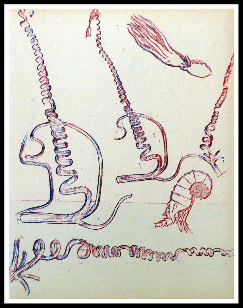 Lithographie Ernst - Composition surréaliste