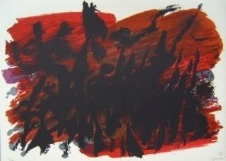 Lithographie Manessier - Composition Vi